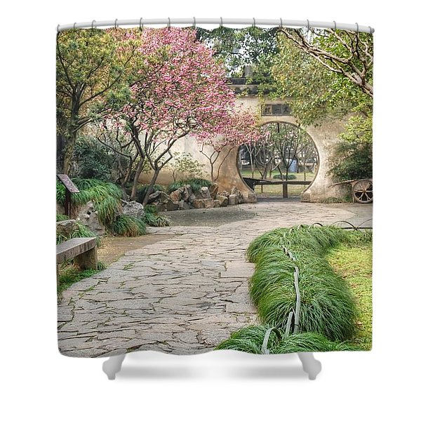 China Courtyard Shower Curtain