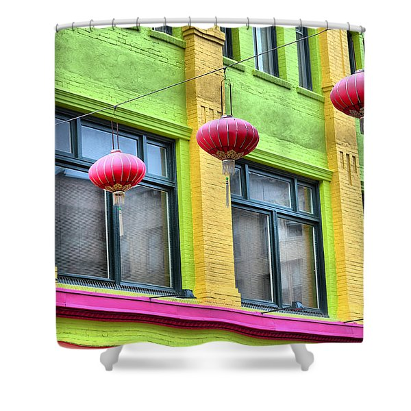 Chinatown Colors Shower Curtain