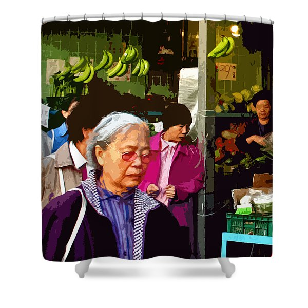 Chinatown Marketplace Shower Curtain
