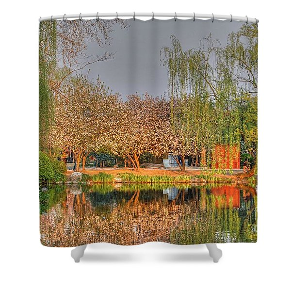 Chineese Garden Shower Curtain