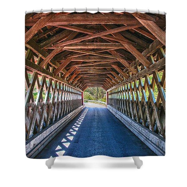 Chiselville Bridge Shower Curtain