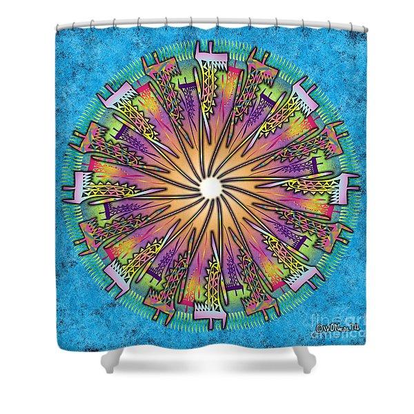 Chiwara Mandala 2 Shower Curtain
