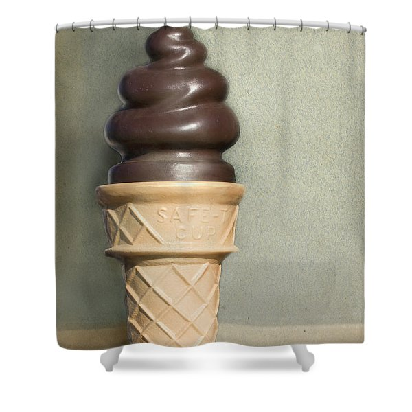 Chocolate Dipped Cone Shower Curtain