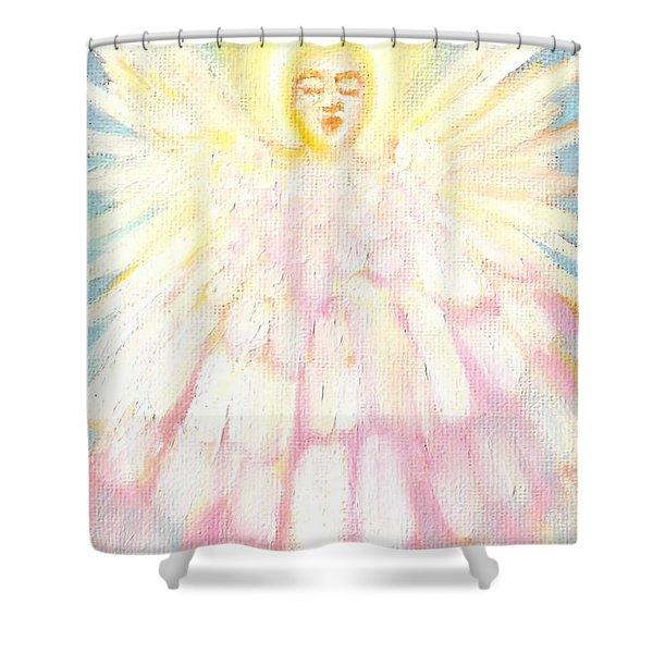 Choiring Angel Shower Curtain