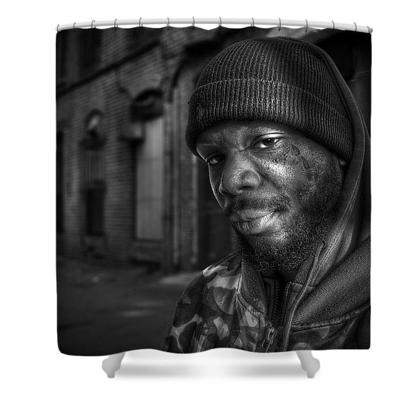 Chris Bw Shower Curtain