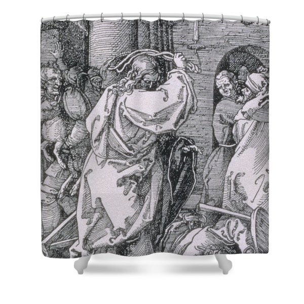 Christ Expelling The Moneychangers From The Temple Shower Curtain