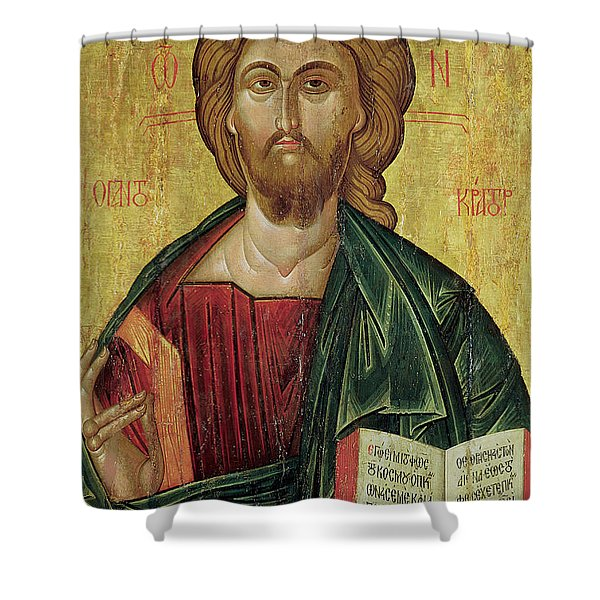 Christ Pantocrator Shower Curtain