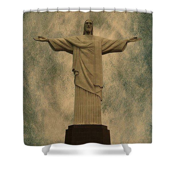 Christ The Redeemer Brazil Shower Curtain