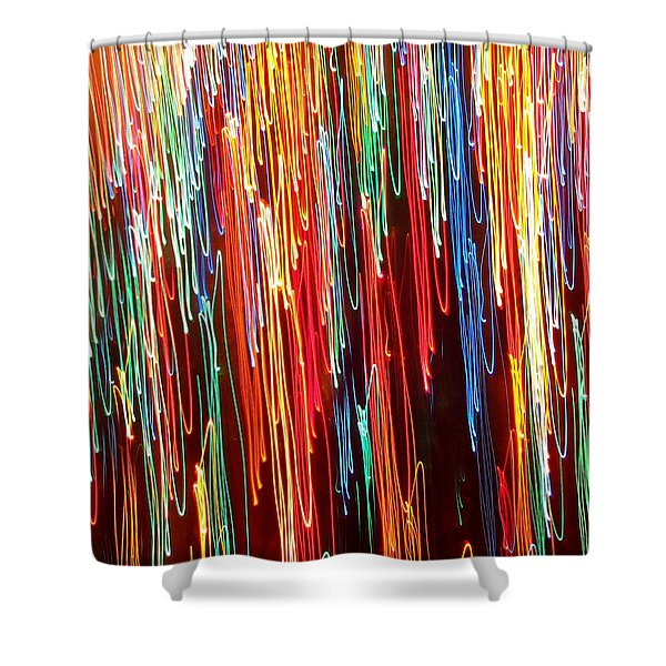 A Rainbow Melting  Shower Curtain