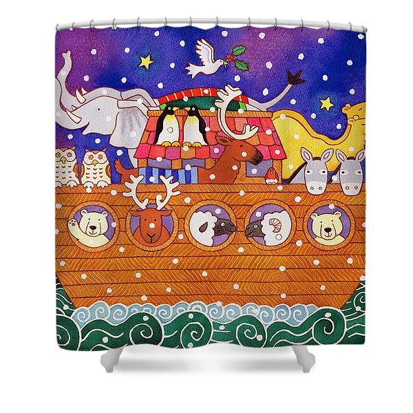 Christmas Ark Shower Curtain