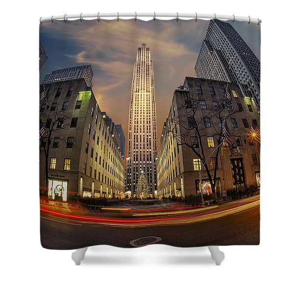 Christmas At Rockefeller Center Shower Curtain