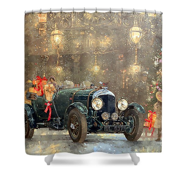 Christmas Bentley Shower Curtain