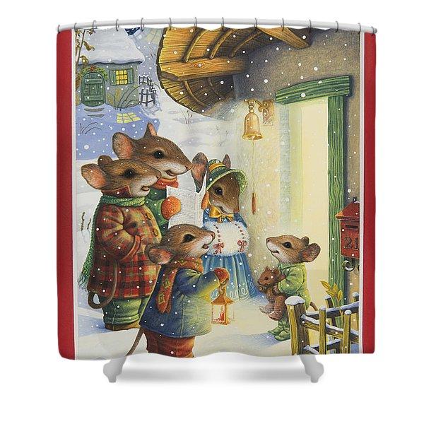 Christmas Carols Shower Curtain