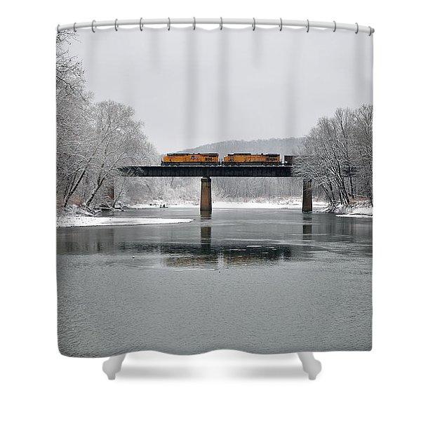 Christmas Coal Shower Curtain