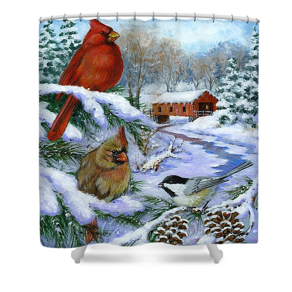 Christmas Creek Shower Curtain