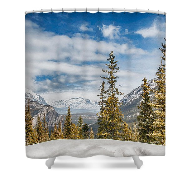 Christmas Day In Banff Shower Curtain