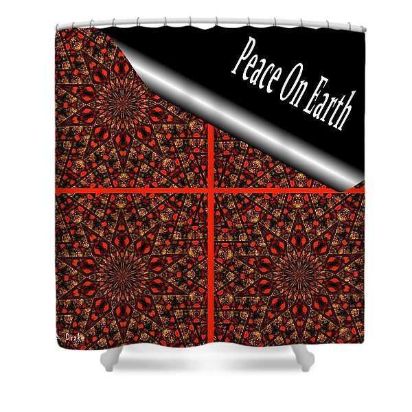 Christmas Gift Wrapping Shower Curtain