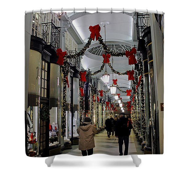 Christmas In Piccadilly Arcade Shower Curtain
