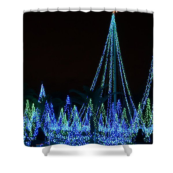 Christmas Lights 1 Shower Curtain