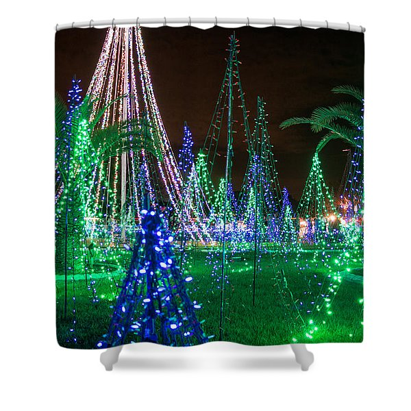 Christmas Lights 2 Shower Curtain