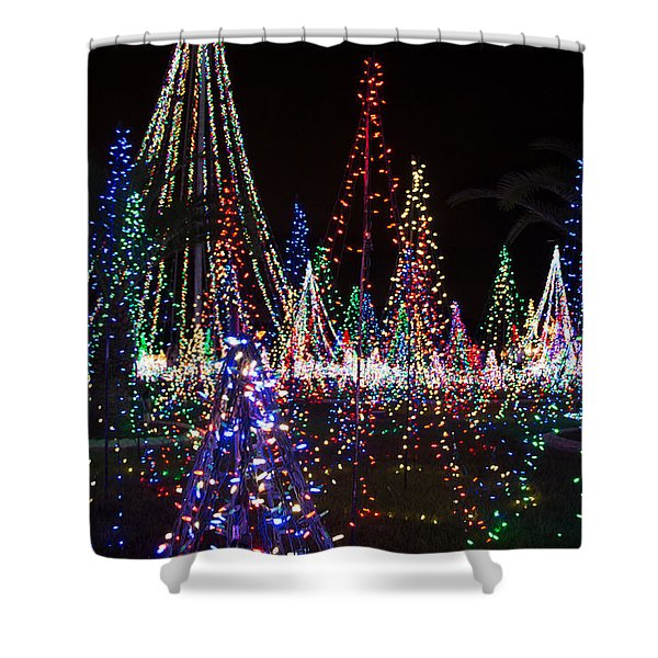 Christmas Lights 3 Shower Curtain