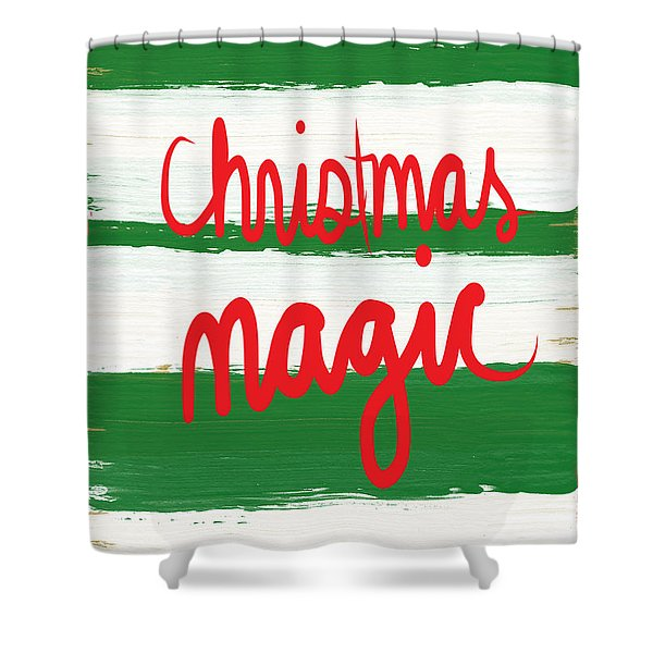 Christmas Magic - Greeting Card Shower Curtain