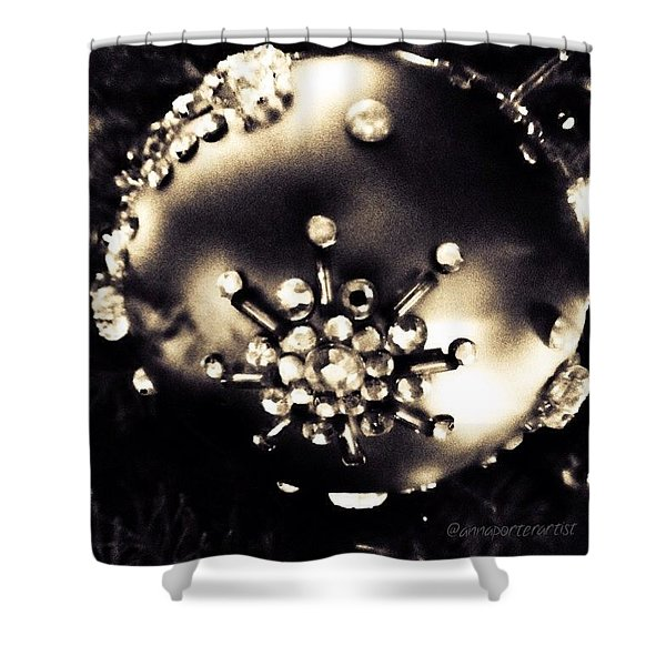 Christmas Ornament In Black And White Shower Curtain