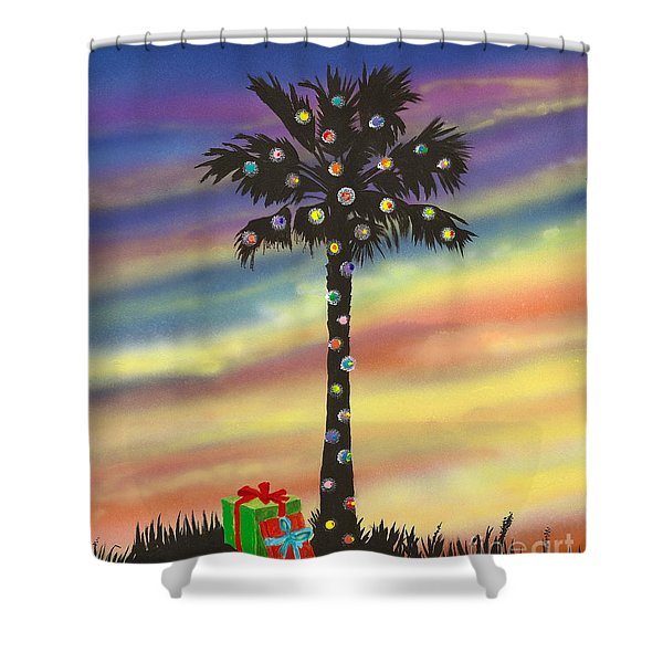 San Clemente Christmas Shower Curtain