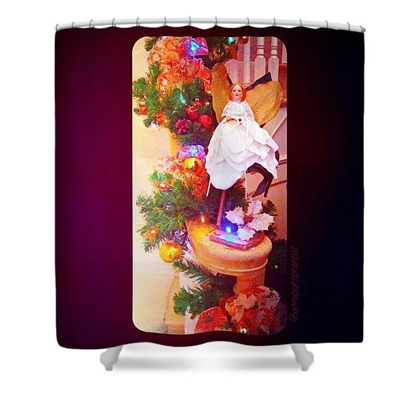 Christmas Past #christmas #decorations Shower Curtain
