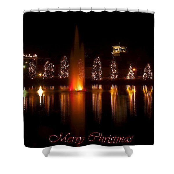 Christmas Reflection - Christmas Card Shower Curtain