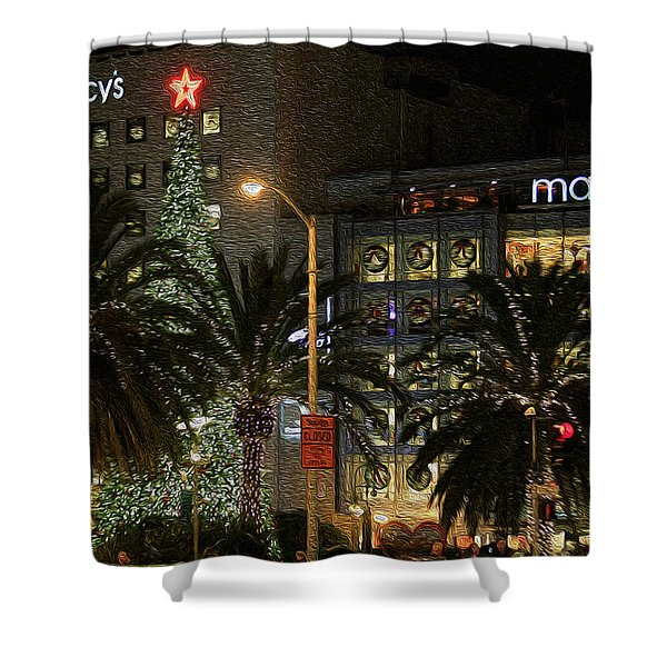 Christmas Tree At Union Square Shower Curtain