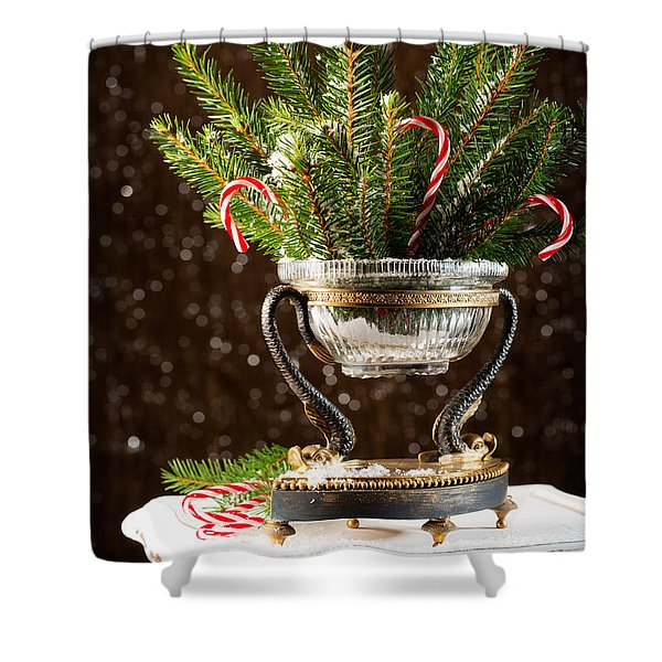 Christmas Tree Decoration Shower Curtain