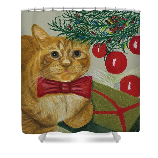 Christmas With Rufus Shower Curtain