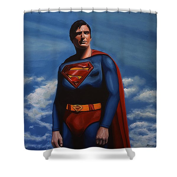 Christopher Reeve As Superman Shower Curtain