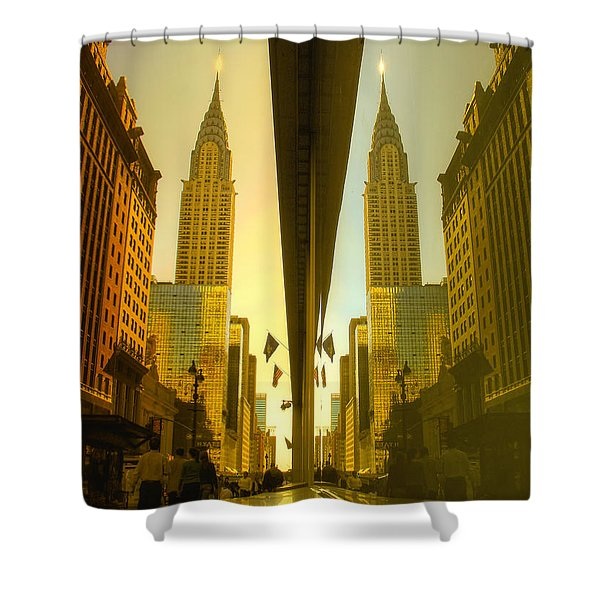 Chrysler Reflection On 42nd Street Shower Curtain