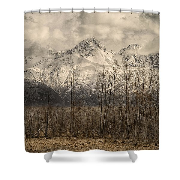 Chugach Mountains In Storm Shower Curtain