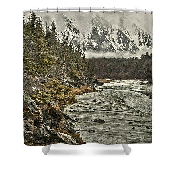 Chugach Range Shower Curtain