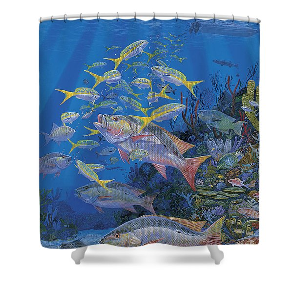 Chum Line Re0013 Shower Curtain