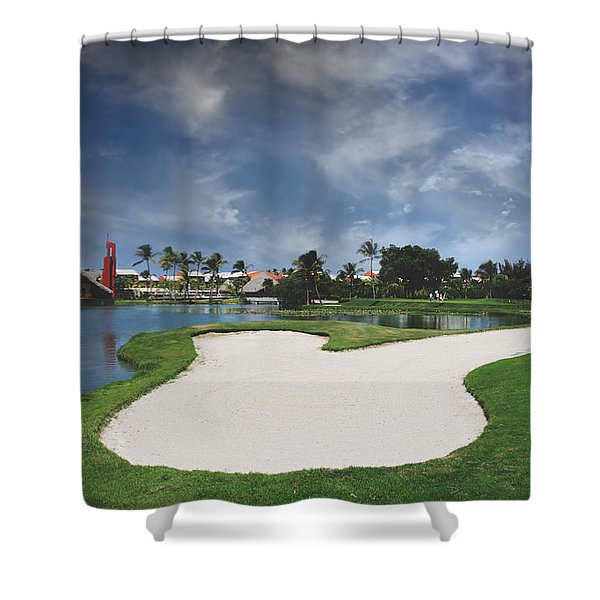 Church And Golf Shower Curtain