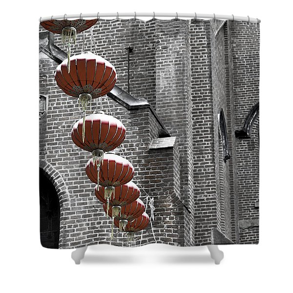 Church Lanterns Shower Curtain