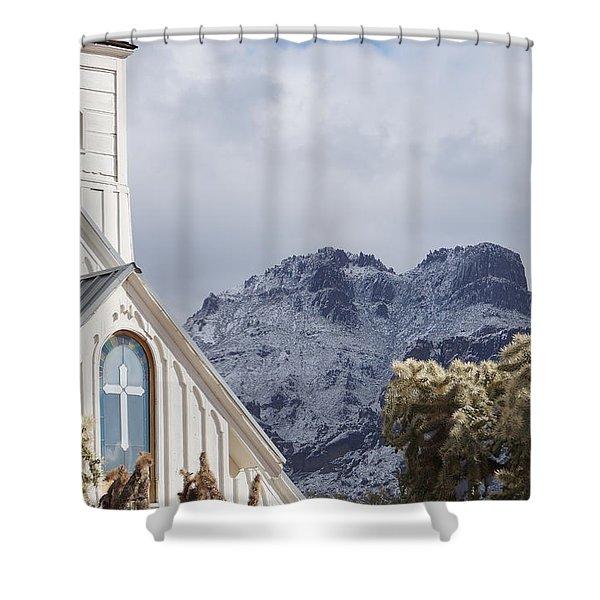 Elvis Presley Chapel Shower Curtain