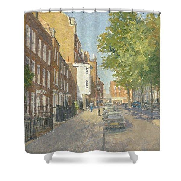 Church Row, Hampstead Oil On Canvas Shower Curtain
