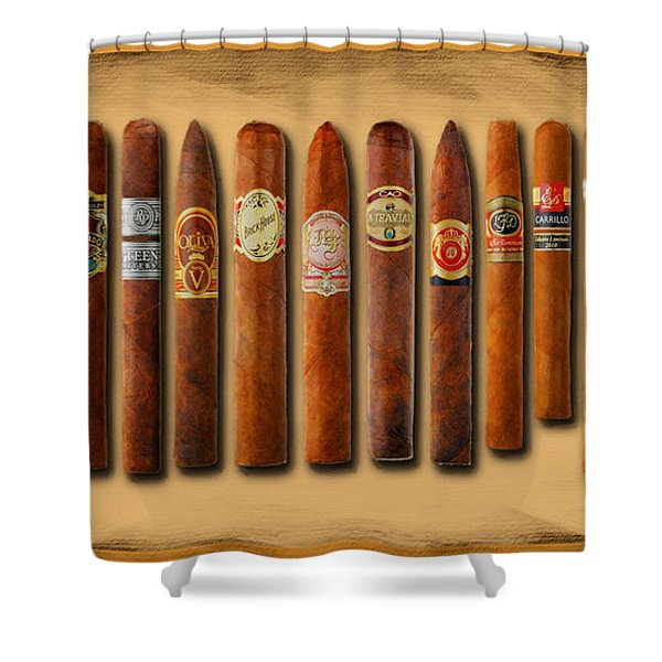Cigar Sampler Painting Shower Curtain
