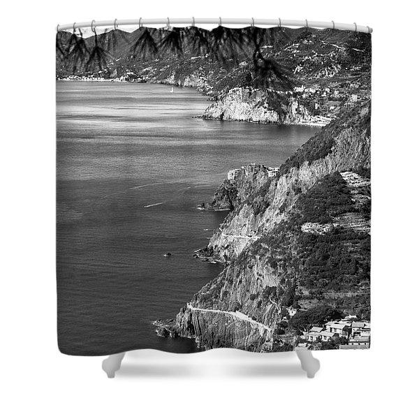 Cinque Terre Coastline Shower Curtain