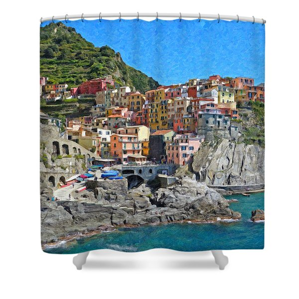 Cinque Terre Itl3403 Shower Curtain