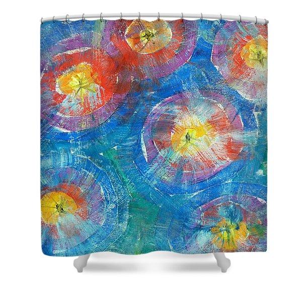 Circle Burst Shower Curtain