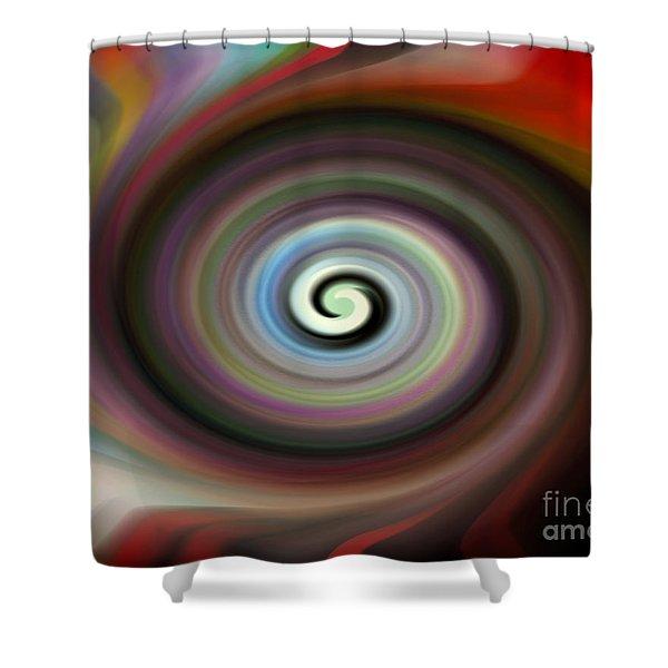 Circled Carma Shower Curtain
