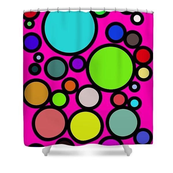 Circles Galore Shower Curtain