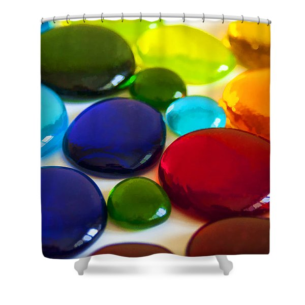 Circles Of Color Shower Curtain