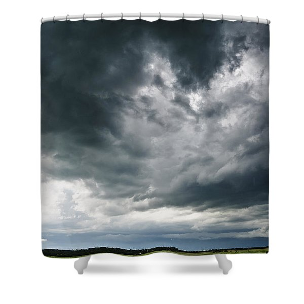 Circling Clouds Shower Curtain
